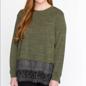 Pullover Olive Tw Tone by Agnes & Dora NWT